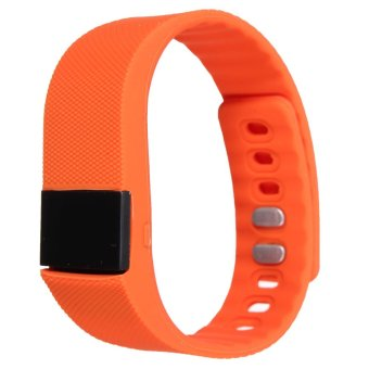 Bluetooth 4.0 OLED Smart Wrist Band Bracelet Watch Sport Health for iOS Android Orange (Intl)