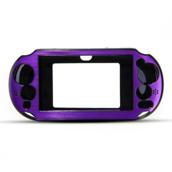 Generic Metal Skin Protective Cover Case for Sony PSV 2000 - Purple