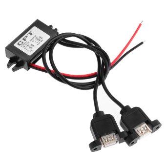 WiseBuy Waterproof Dual USB DC 12V to 5V 3A Step-Down Voltage Car Power Converter - Intl