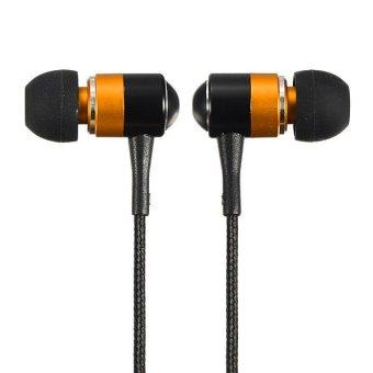 3.5mm Headphones Earbud Earphone Headset For iPhone 6 Galaxy s5 Note 4 MP4 MP3 Orange (Intl)