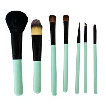 Animal 7 Set Hair Makeup Brush Set Animal Model / Kuas Wajah - Putih-Biru