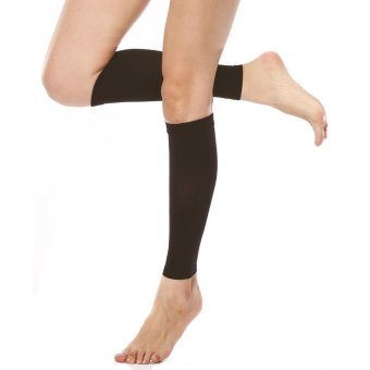 Far Infrared Medical Compression 23-32mmHg Leg Sleeve Travel Socks S (Black) (Intl)