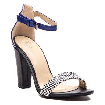 LZD Strappy Heel Sandals - Blue