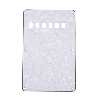 New Pearl White Ply Back Plate Rear Tremolo Cover for Stratocaster Guitar (Intl)