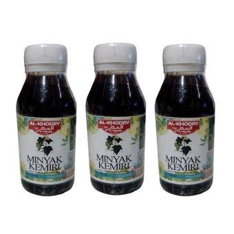 Minyak Kemiri Al Khodry Penumbuh Rambut 125ml- Paket 3 Pcs.