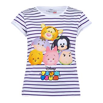 harga Disney Tsum Tsum Strip Shirt Putih Lazada.co.id