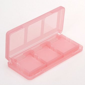 BolehDeals Game Memory Card Storage Case for Nintendo NDSL 6 In 1 Crystal Red