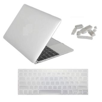 13.3 inch for Apple MacBook Pro Retina13.3 Laptop computer transparent matte protective shell Laptop Protective Case Cover and keyboard film and Dustproof plug 3 in 1 (Intl)