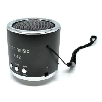 Universal Insert Card Speaker Support MicroSD Card, USB Flash Disk, FM Radio - Z-12 - Hitam