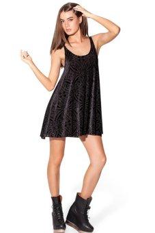 Toprank Summer Dress Women Mini Dress Casual Sleeveless Dresses Beach Dress Summer Plus Size ( Black )