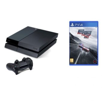 Sony PS4 Black 500GB + DVD PS4 Need For Speed