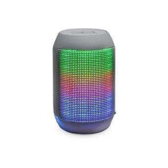 MY-500BT Mini Portable Bluetooth Wireless Speaker w/ Colorful LED Light Subwoofer HIFI Speaker Support USB TF Card - Gray (Intl)