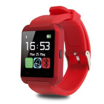iRulu U8 Bluetooth Smart Wrist Watch Phone Mate for Android IOS Samsung iPhone (Red) (Intl)