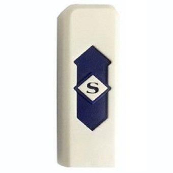 Taff USB Rechargeable Electronic Cigarette Lighter - Putih Biru