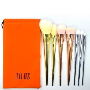 SUPERLADY Professional 7Pcs Cosmetic Makeup Make Up Brush Brushes Set Kit Tools Super Soft Pouch Bag Case Golden - Intl