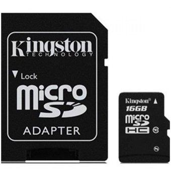harga Kingston MicroSDHC High Capacity micro Secure Digital Card Class 4 - 4MB/s - 16GB - SDC4/16GB Lazada.co.id