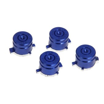 Generic 4x Aluminum Bullet Buttons 9mm Keys Set for Sony PS3 PS4 Controller Metal Blue - Intl