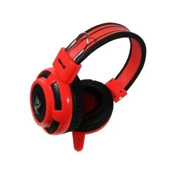 Rexus F15 Headphone Gaming Multimedia Plus Mic - Merah