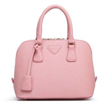 New Style Fresh Shell Women's Zipper Tote Bags Satchel Handbag (Pink)