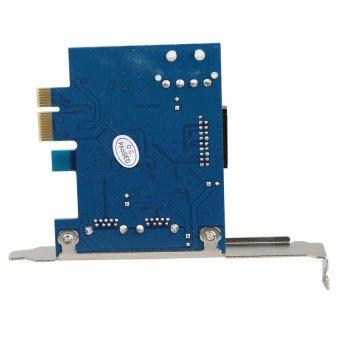 KUNPENG USB 3.0 2-port 19-pin Header PCI-E Card 4-pin IDE Power Connector