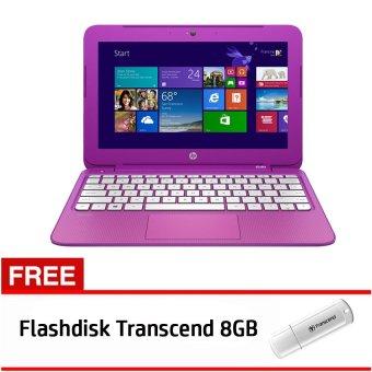 HP Stream 11-D030TU - Intel Celeron N2840 - 2GB RAM - Windows 8 - Ungu + Gratis Flashdisk Transcend 8GB