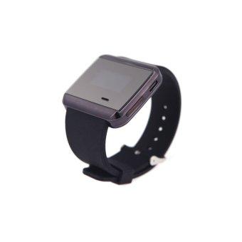 U Bluetooth Smart Watch Wristwatch for Smartphone Sync SMS Call Anti-lost Alarm (Black) (Intl)