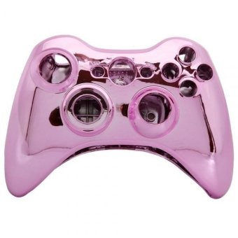 Wireless Controller Full Housing Shell Case Mod Kit with Buttons for XBox 360 (Pink) (Intl)
