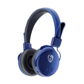 Wireless Bluetooth Stereo Headset with Micro SD Card FM (Blue) - Intl