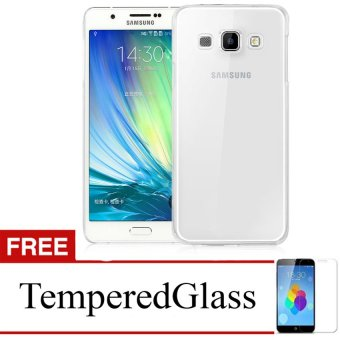 Case for Samsung Galaxy Core / I8260 - Clear + Gratis Tempered Glass - Ultra Thin Soft Case
