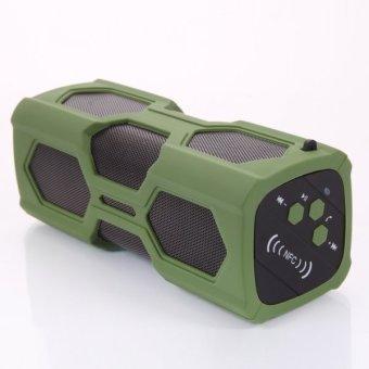 NFC Waterproof Wireless Bluetooth 4.0 Speaker for iPhone Sumsung PC Grass Green - Intl