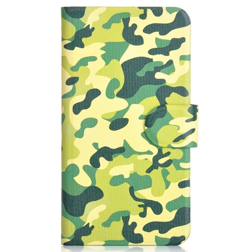 Army Camouflage Design Card Slot Magnetic PU Leather Flip Case Cover Compatible For LG Optimus 4x HD P880