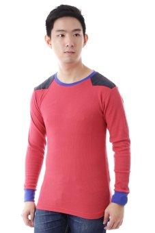Elfs Shop - Kaos Lengan Panjang Wafer Cuff 6Y-Merah Cabe