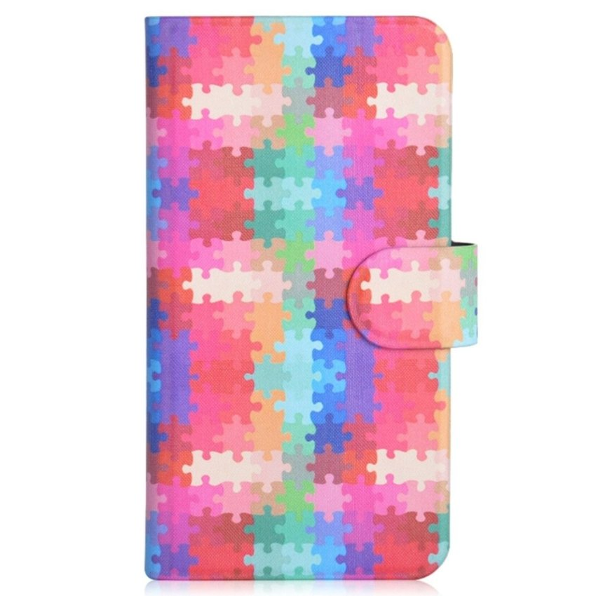 Colorful Puzzle Graffiti Design Card Slot Magnetic PU Leather Flip Case Cover Compatible For Nokia Lumia 928