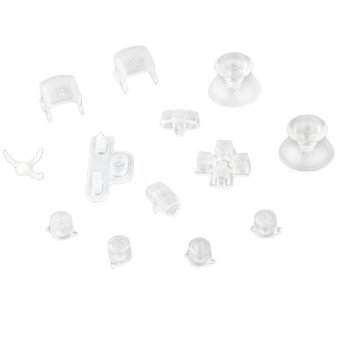 Generic 13 Clear Controller Thumbsticks D-pad Buttons Set for Playstation 3 - Intl