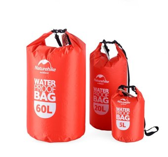 Outdoor Sport Travel Waterproof PVC Dry Bag for Hiking Swimming Rafting 60L (Red) - INTL