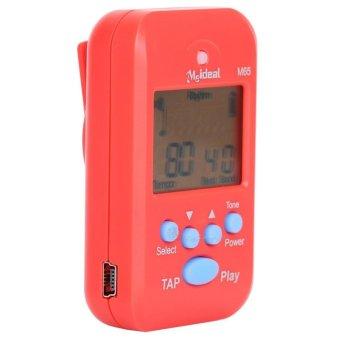 meideal m65 Protable Multi-functional Mini professional Metronome LCD Digital Beat Tempo Metronome red(INTL)