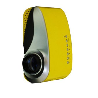 Portable Mini 802 1080P Multimedia LED Projector For Home Theater (Color: Yellow) - Intl