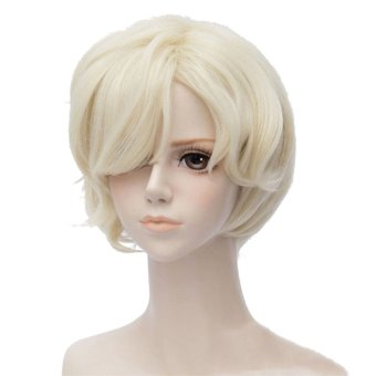 Men's Lolita Short Straight Full Wig Hair Anime Handsome Costume Cosplay Fashion Wigs (Intl)
