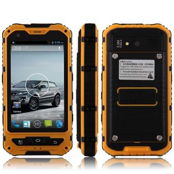 Waterproof 4.0 Inch Touch Screen MTK6572 Android 4.2.2 Cellphone A8 Yellow (Intl)