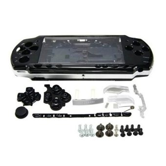 Black Full Housing Shell Faceplate Case Parts Replacement for Sony PSP 2000 Console (Intl)