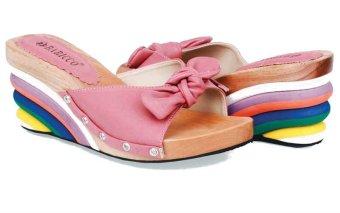 Baricco Brc 203 Sandal High Heels Wedges 7 Cm Synthetic -Modis - Pink