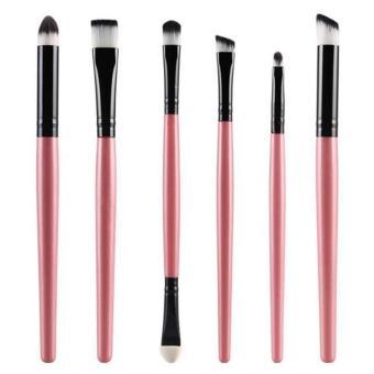 6Pcs Handle Professional Eyeshadow Makeup Eye Brush CosmeticBrushes Set pink - Intl
