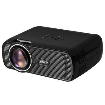 Uhappy U80 LCD Projector 1080P 1000LM 800 x 480 Pixels with AV / Audio / HDMI / VGA / USB 2.0 / SD Card Slot (Black EU Plug) (Intl)