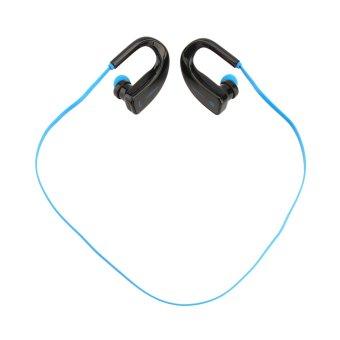 Bluetooth Wireless Headset Stereo Headphone Earphone Handfree Sport for Phone (Blue) (Intl)