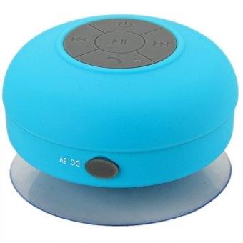 BTS-06 Water Resistant Shower Bluetooth Speaker with Sucker Support Hands-free Calls Function Blue (Intl)