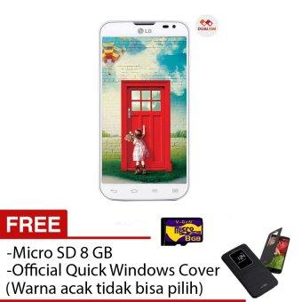LG L90 Dual D410 - 8 GB - Dual SIM - Putih + Free Quick Windows Cover + Micro sd 8 GB