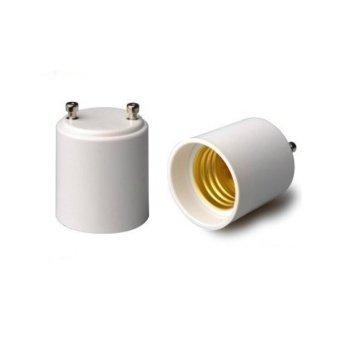 GU24 to E27 LED Light Lamp Bulb Adapter Holder Socket Converter (White) - Intl