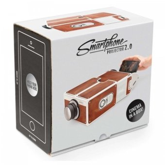 Portable Cardboard Smartphone Projector 2.0 - Cokelat