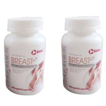Emilay Breast Enhancement USA Pil Pembesar Payudara Jadikan Montok, Sexy, Padat Dan Sintal- 2 botol