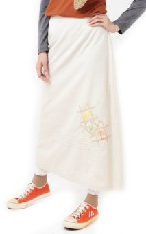 Look up - 07.16Bottom Aurum Skirt - Baju Muslim - Cream